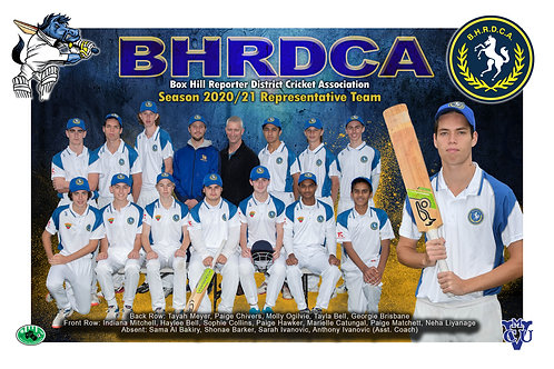 BHRDCA Cricket Team Photo With Individual Player Portrait