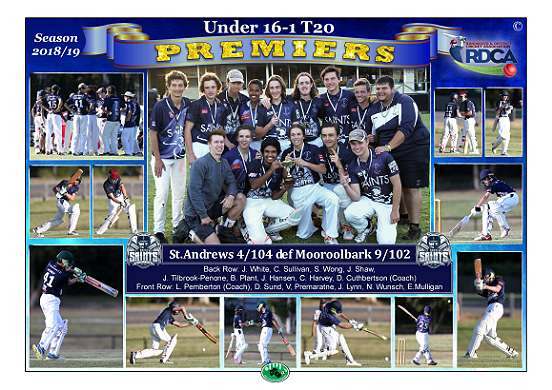 U16-1 St.Andrews T20 Premiers Poster A3