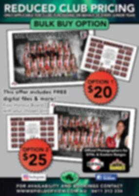 Reduced Club Pricing Bulk Buy Footy A4 F