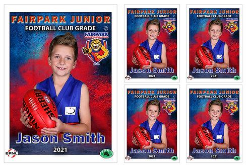 Fairpark Football Club Player Portrait – 5 in 1 Pack