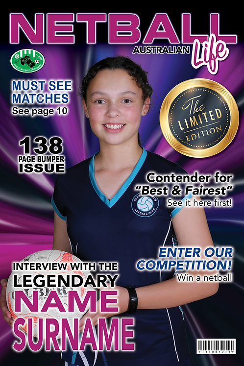 Netball Magazine Cover Player Print