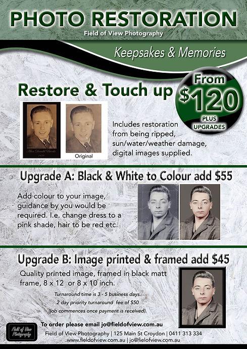 Photo Restoration & Touch Ups A4 flyer.j