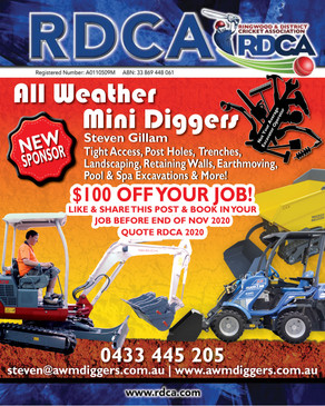 Welcome to new sponsor All Weather Mini Diggers, great to have you on board for 20/21