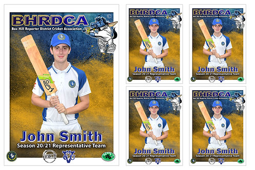 BHRDCA Cricket Player Portrait – 5 in 1 Pack