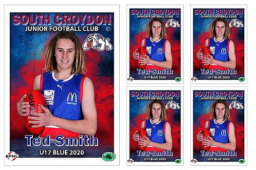 Sth Croydon Junior Football Club Player Portrait – 5 in 1 Pack