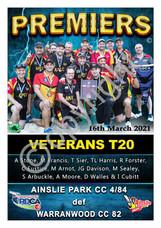 RDCA Ainsley park T20 veterans Premier p
