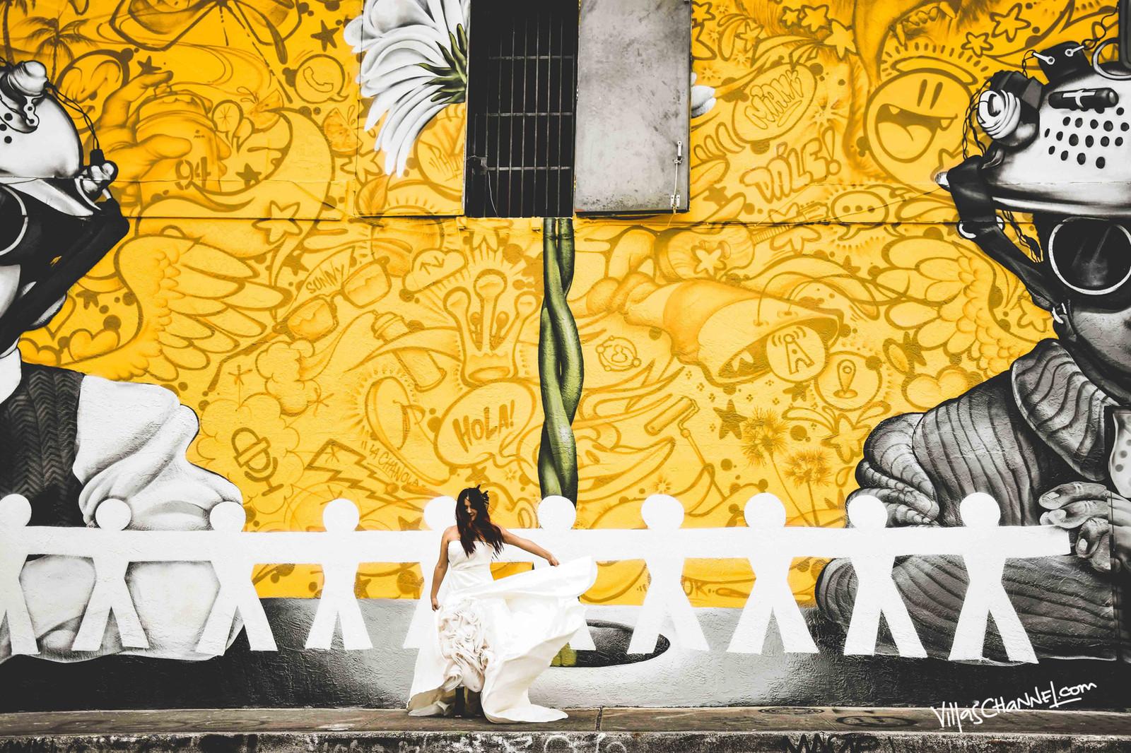 Yellow wynwood mural