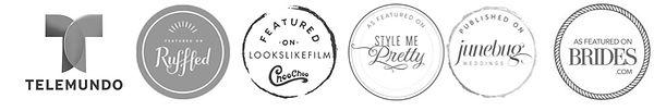 logos of telemundo style me pretty brides ruffled