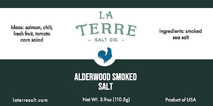 LaTerre Salt Co _ product labelalderwood
