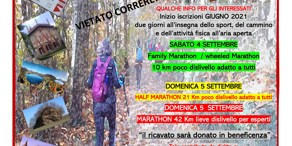 21 km Half Marathon / 42 km Marathon - Francigena Collina Morenica Marathon
