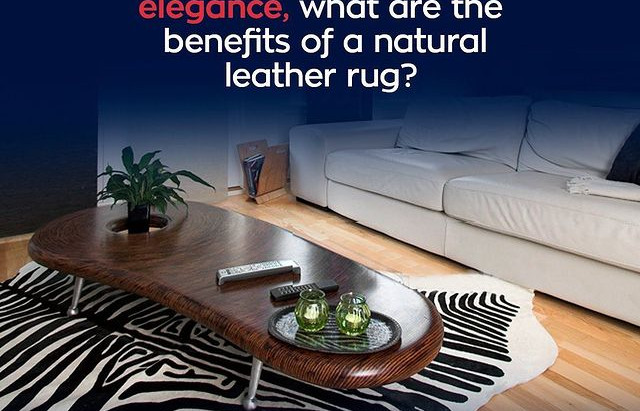 Aside from it beauty and elegance, whats are the benefits of a natural leather rug?