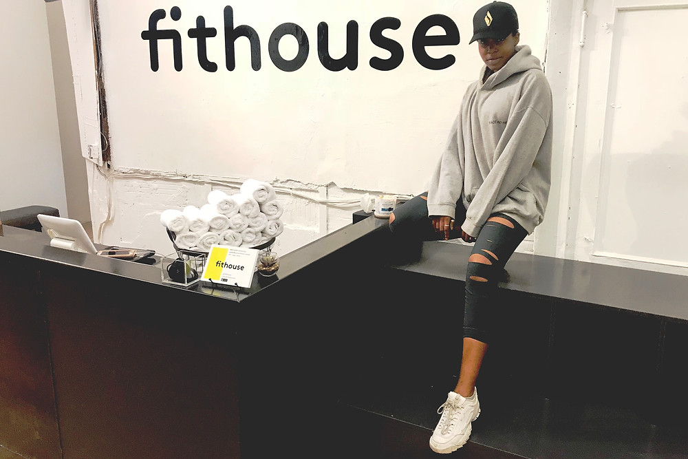 Katherine Elam at FitHouse in New York City after a Monday morning workout.