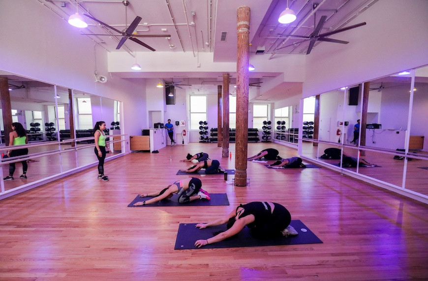 Photograph of class at fithouse, SOHO in New York City.