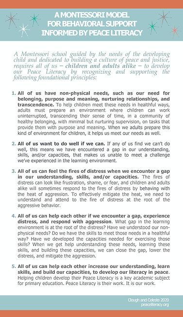 PL Foundational Principals Montessori Be