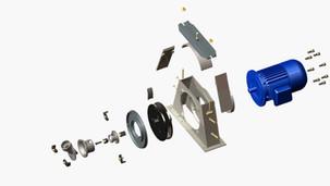 Turbina de jateamento: palhetas retas x palhetas curvas