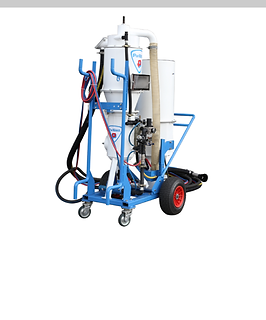 Closed circuit blasting machine
