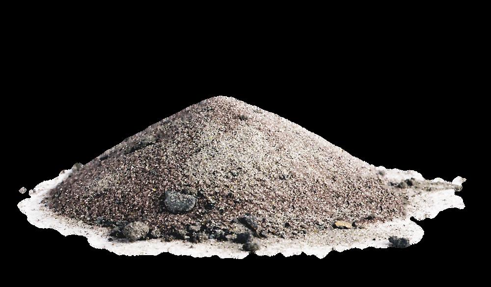 Abrasivo de granallado con suciedad