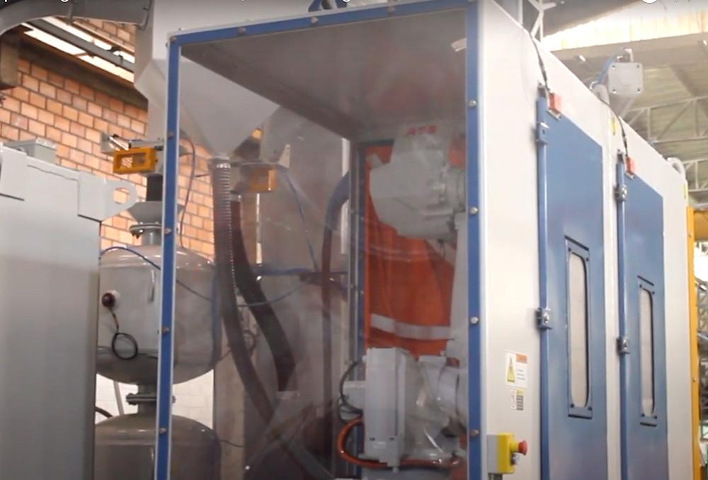 shot peening machine with robot
