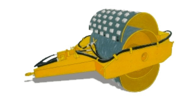 rolo compactador vibratório