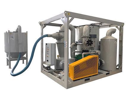 Abrasive recovery vacuum pump