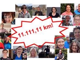 Lauftreff: Virtueller Lauftreff erreicht 11.111,11 km zum Jahresende unterstützt das Friedensdorf