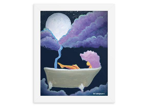 Moon bathe + framed