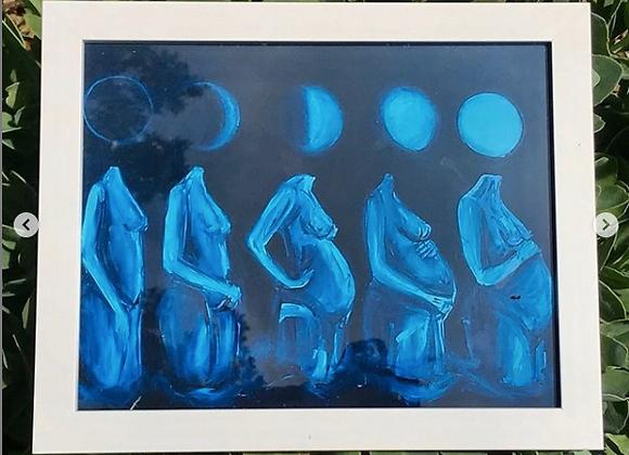 Phases (framed print)