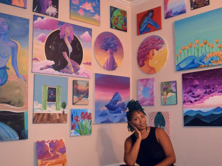 Painting for me: An act of self-care.