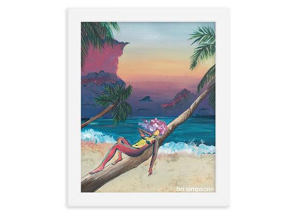 Paradise + framed