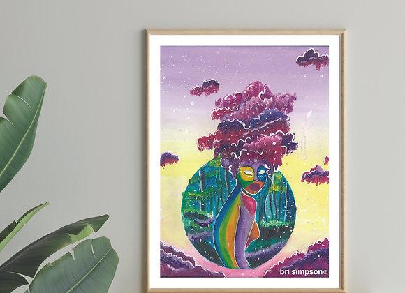 The Enchantress + framed
