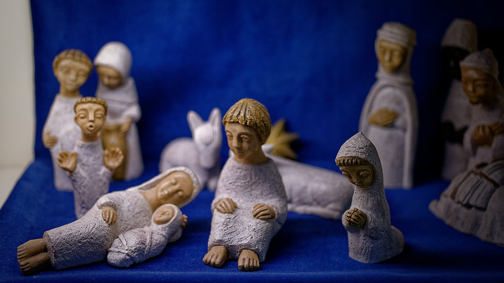 Presepe Santa Famiglia (8-18cm)