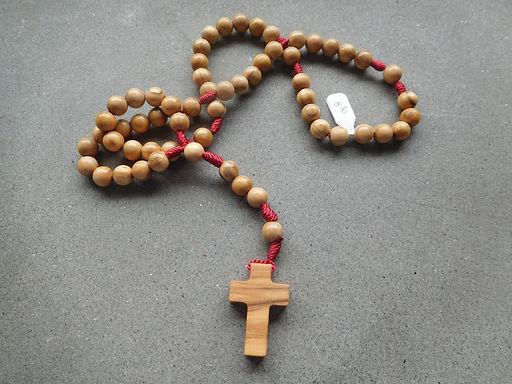 Rosario legno d'ulivo