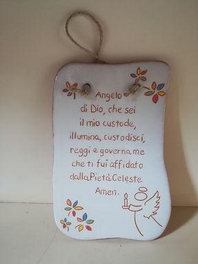 Angelo di Dio (preghiera su ceramica)