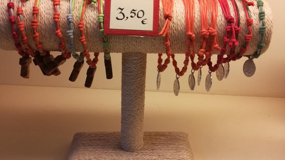 Decine braccialetti cotone doppio filo