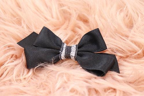 Black Silky Bow