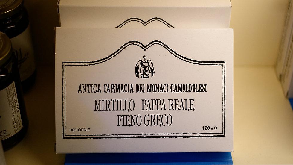 Mirtillo, Pappa Reale & Fieno Greco-12 fiale -120ml tot.