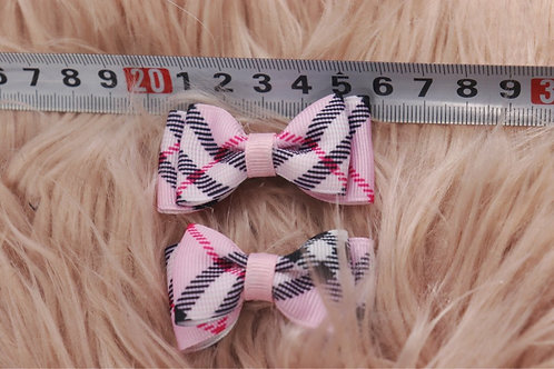 Mini Plaid Bow *Pair