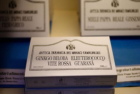 Ginkgo Biloba, Eleuterococco, Vite Rossa & Guaranà- 12 fiale-120ml tot.