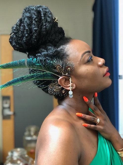 Peacock Sword Ear Cuff