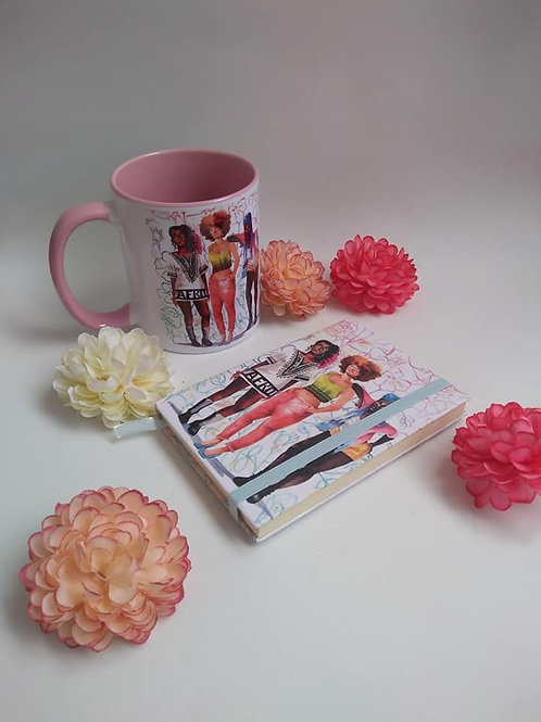 """""""Best Friends """"Unlined Notebook & Mug (Sold Separately) -Various Sizes"""