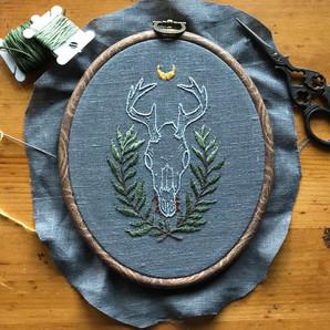 Deer Skull Embroidery