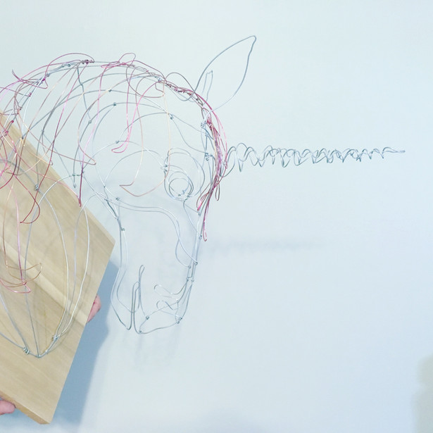 wire taxidermy unicorn