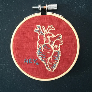 Hey. Anatomical Heart Embroidery
