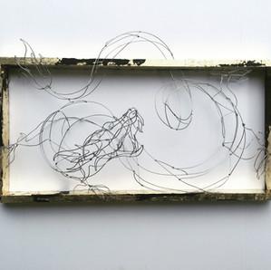 wire taxidermy dragon