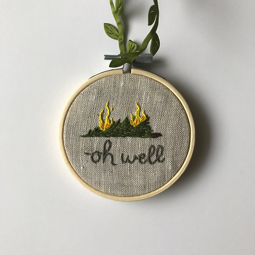 Oh Well (Burning Tree) Holiday Ornament