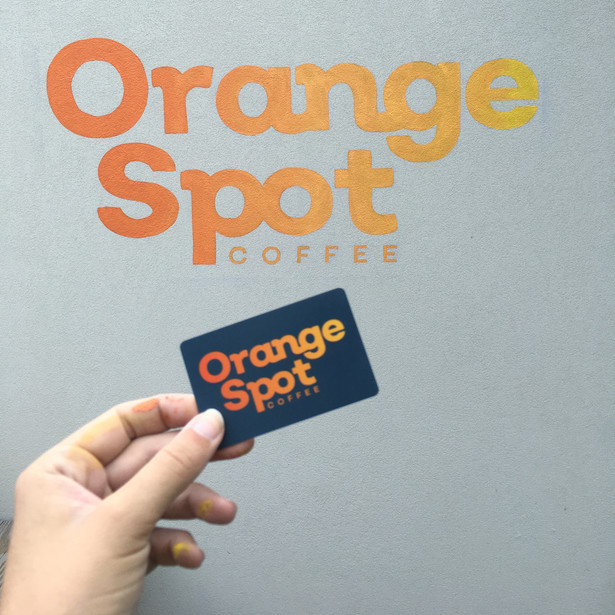 Orange Spot Coffee Sign