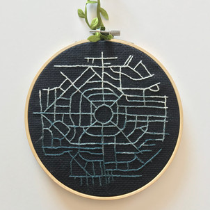 Park Circle Map Embroidery