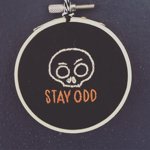 Stay Odd Embroidery