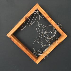 wire sculpture koala
