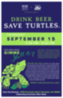 Drink Beer. Save Turtles. 2016 Event Poster